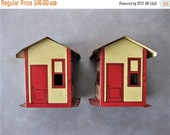 SPRING SALE Whats Better Than One? TWO Vintage Tin Erector Set Buildings/House