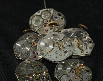 Vintage Watch Movements Parts Steampunk Altered Art Assemblage RB 19