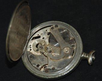 Vintage Pocket Watch Movement Case Body   Steampunk X 94