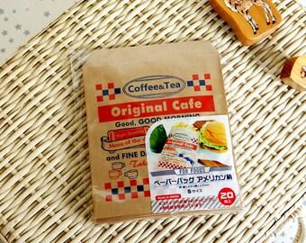 Japanese Kraft Paper Wrapping Bag - Coffee Tea