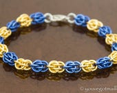 Custom Team Colors Chainmaille Bracelet