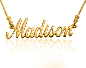 Custom Name Necklace Personalized Name Necklace, Customize necklace Any Name, Quality Gold Plated Great Gift Idea