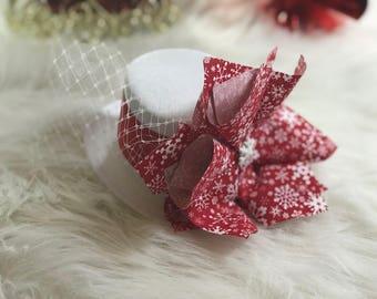 Christmas Headbands , Christmas Photo Props, Mini Top Hat, Smash Cake Headbands Baby Girl, Red Headbands, Christmas Hair Bows