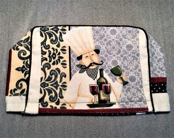 WINE CHEF 2 Slice Toaster Cover, appliance cover, toaster cozy, for toaster, kitchen, housewarming, birthday, holiday, gifts