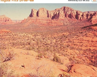 SALE Arizona photography, Sedona photograph, Southwest decor, desert art print, orange decor, earth tones, travel, landscape, Arizona art