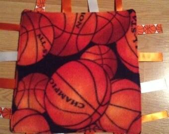 Basketball Fleece ribbon blanket, baby