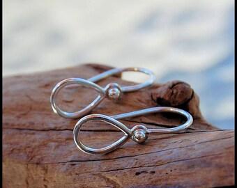 Teardrop Earrings in Sterling Silver * Tiny Simple Feminine Earrings * Easy Wear Earrings * Lightweight Earrings