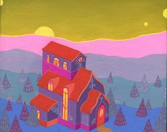 "Original Painting - ""Ida's House"""