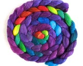 Tour de Fleece Companion, Racing Violet, YOUR CHOICE of Fiber! Handpainted Spinning or Felting Fiber, 4 ounces