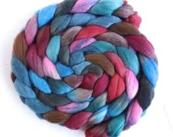 Merino Wool Roving Superfine - Hand Dyed Spinning or Felting Fiber, Indoor Garden