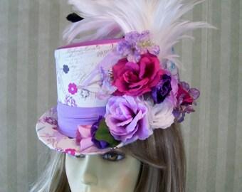 Kentucky Derby Top Hat, Victorian Top Hat, Steampunk top Hat, Easter Top Hat, Parisian Top Hat, Wedding Top Hat