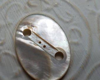Vintage Belt Buckles 1 beautiful mother of pearl, belt buckle, large size, oval shaped (July 372 17)