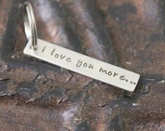I Love You More Keychain - Sterling Silver Keepsake Charm