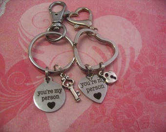 Valentines Day Youre My Person Keychains Friends Couples Gift