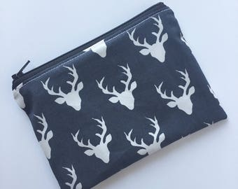 Buck Snack Bag - Kids Zippered Snack Bag - Lunch Pouch - Deer Snack Bag - Snack Bag - Lunch Bag - Snack Sack