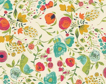 Budquette Abloom - Fusions Ablooms -  Emmy Grace - Bari J. - Art Gallery Fabric - 100% Quilters Cotton FUS-A-405  EMG-5607