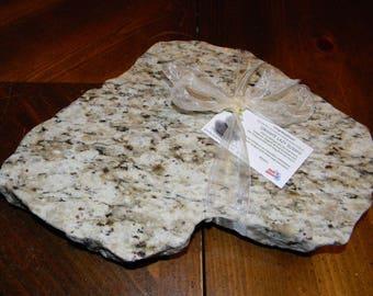 hand chiseled granite lazy susan