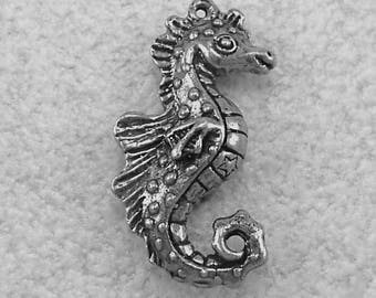 New Green Girl Studios Pewter Large Seahorse