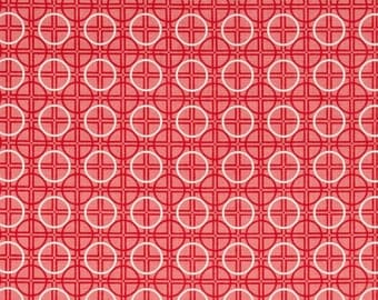 FABRIC Fat Quarter Circles Red White   Fat Quarter    We combine shipping