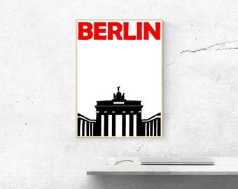 Berlin Print // Germany Art Print // Gifts for Men // Travel Poster // Berlin Poster // German Art // Berlin Art // German Poster / Wall Art