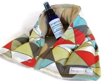 Microwave Heating Pad Hot Cold Therapy Pack Neck Wrap, Unscented or Herbal Aromatherapy heating pad, mom gift for her
