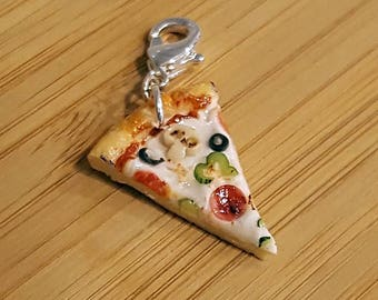 Pizza Charm - Mini Food Jewelry - Food Charm - Foodie Gift - Pizza Jewelry