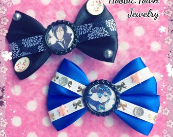 Black Butler Ciel & Sebastian Anime Hair Bows