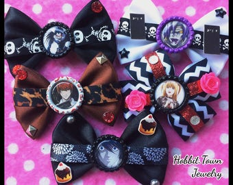 Death Note L Ryuk Misa Light Rem Anime Hair Bows