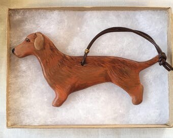 Dachshund Ornament - Doxie Ornament Ceramic - Dachshund Lover Gift - Doxie Lover Gift - Ceramic Dog Ornament - Dog Lover Gift