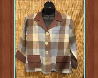 "Vintage 1950s two tone Pendleton ""Rare"" swing jacket"