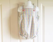 "Bubble Romper ""Bobbie"" - Summer Shortalls Sunsuit Swimsuit in your choice of fabrics - sizes 6 - 24 mos"