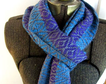 Lady Grey Purple, Grey and Blue bamboo scarf
