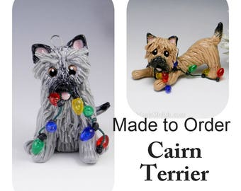 Airedale Terrier Made to Order Christmas Ornament Figurine in Porcelain