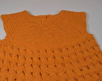 Orange Cotton Children's Vest