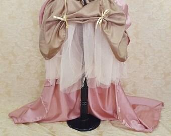 "SUMMER SALE Steampunk Sally Bustle Skirt Set Set-One Size Fits To A 52"" Waist"