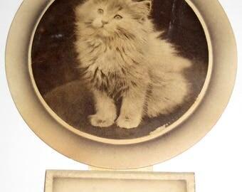 Vintage (1930 ) Mini Calendar - New Years, Christmas Greeting - Cat