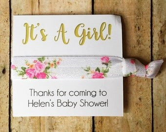 Hair Tie Shower Favors, Girl Baby Shower Favors, Girl Baby Shower, Itu0027s A