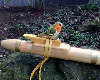 Native American Style  Flute in E, Pine with Bird