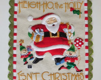 Finished Mary Engelbreit Advent Calendar/Wall Hanging - Heigh Ho