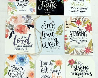 Bible verse etsy inspirational spiritual christian bible verse quotes gift or scrapbook tags t 40 negle Images
