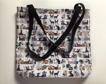 Collage GREYHOUNDS Medium Tote Bag