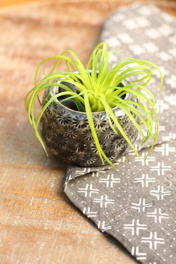 greysucculent planter // cactus planter // succulent pot // small ceramic pot // succulent gift