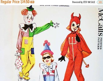 on sale 25 off 1960s kids costume pattern little devil pattern clown pattern girls boys - Halloween Costume Patterns For Kids