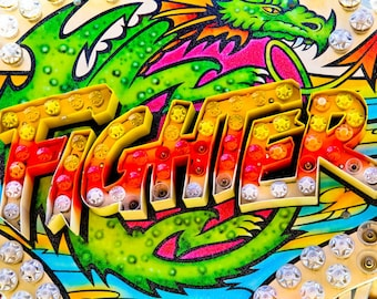 Fighter Ride Neon Carnival Fine Art Print- Carnival Art, County Fair, Nursery Decor, Home Decor, Children, Baby, Kids