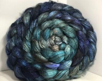 Spinning Fiber Yak Bombyx Silk 50/50 - 5oz - Ocean Depths 1