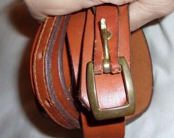 Thin Vintage Frye Belt 34