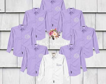 Bridesmaid Shirts, Bridesmaid Getting Ready Shirts, Bridesmaid Oxford Shirts, Bridesmaid Proposal , Bridesmaid Gift, Boyfriend Shirt