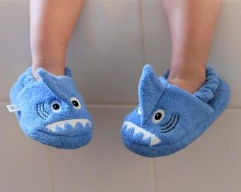 Yikes Twins Children's Shark slippers