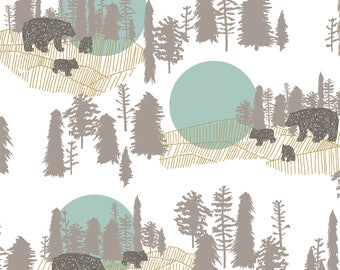 baby boy bedding- woodland crib sheet- bear baby bedding- fitted crib sheet / mini crib sheet/  changing pad cover- woodland crib bedding