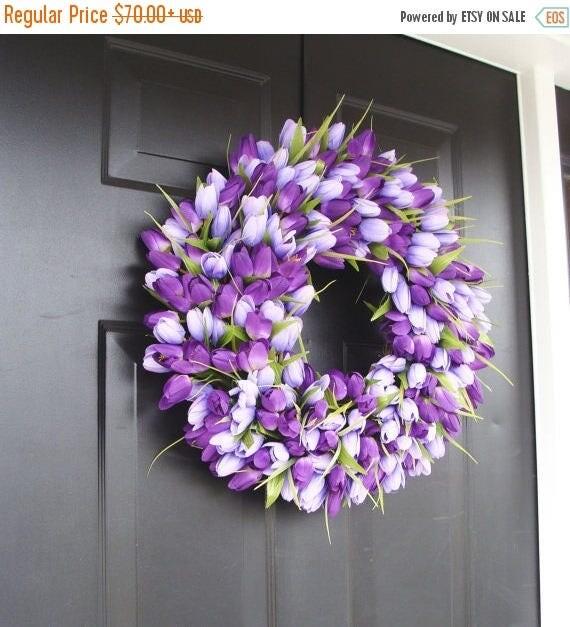 SUMMER WREATH SALE Lavender Spring Wreath- Wreath for Spring- Mother's Day Wreath- Spring Decor- Lavender Wreath- Easter Wreath